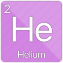 atomic, balloon, element, gas, helium, nobel, periodic table icon