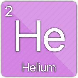 atomic, balloon, element, gas, helium, nobel, periodic table icon
