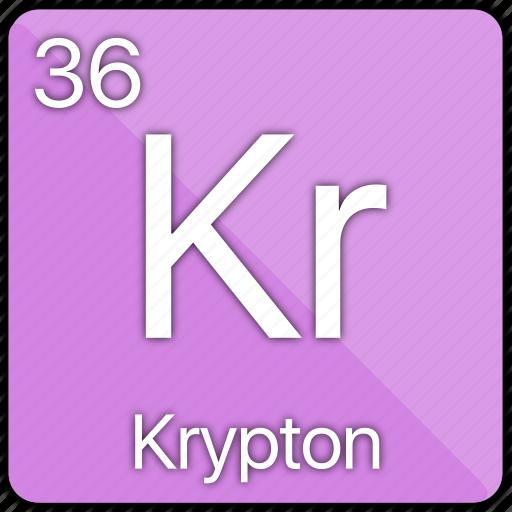 atomic, element, gas, krypton, nobel, periodic table icon