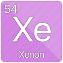 atomic, element, gas, nobel, periodic table, xeon icon