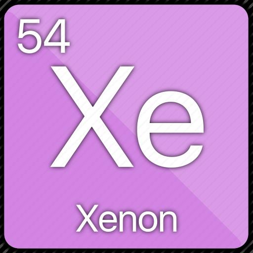 atomic, element, gas, nobel, periodic table, xeon icon