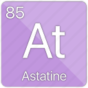 astatine, atomic, element, periodic, periodic table icon