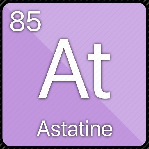 astatine, atomic, element, periodic, periodic table icon