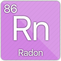 atomic, element, gas, nobel, periodic table, radon icon
