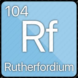 atom, atomic, element, metal, periodic table, rutherfordium icon