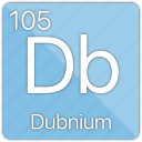 atom, atomic, dubnium, element, metal, periodic table icon