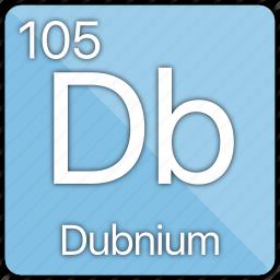 atom, atomic, dubnium, element, metal, periodic table icon