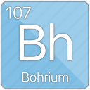 atom, atomic, bohrium, element, metal, periodic table icon