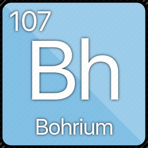 atom, atomic, bohrium, element, metal, periodic table icon