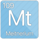 atom, atomic, element, meitnerium, metal, periodic table icon