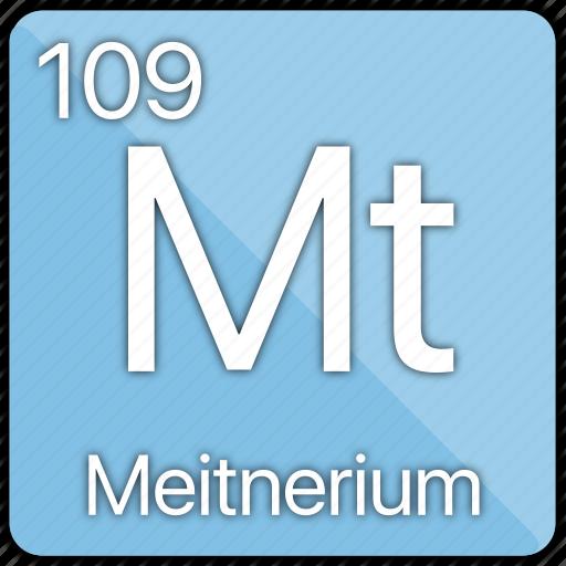atom, atomic, element, meitnerium, metal, periodic table icon