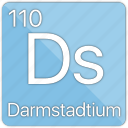 atom, atomic, darmstadtium, element, metal, periodic table icon