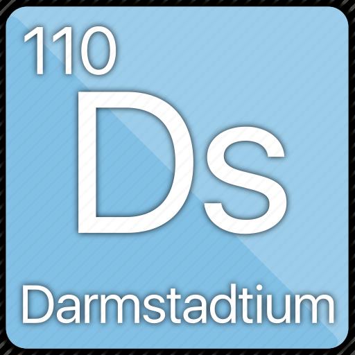 atom, atomic, darmstadtium, element, metal, periodic table icon