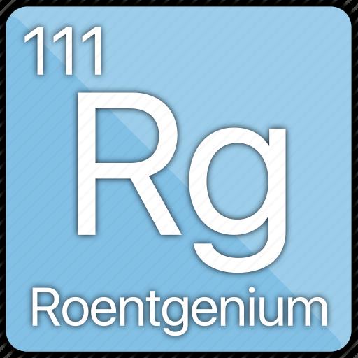 atom, atomic, element, metal, periodic table, radiation, roentgenium icon