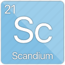 atom, atomic, element, metal, periodic table, scandium icon