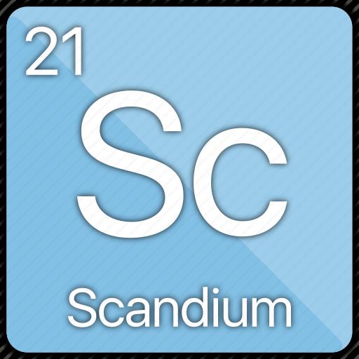 atom, atomic, element, metal, periodic table, scandium icon