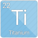 atom, atomic, element, metal, periodic table, titanium icon