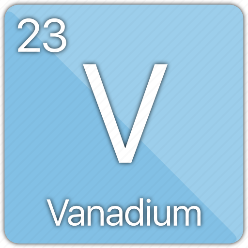 atom, atomic, element, metal, periodic table, vanadium icon