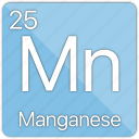 atom, atomic, element, managanese, metal, periodic table icon