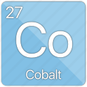 atom, atomic, cobalt, element, metal, periodic table icon
