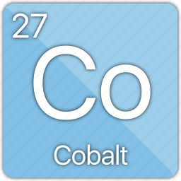 atom, atomic, cobalt, element, metal, periodic table icon