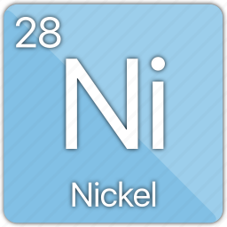 atom, atomic, coin, element, metal, nickel, periodic table icon