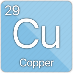atom, coin, copper, element, metal, penny, periodic table icon