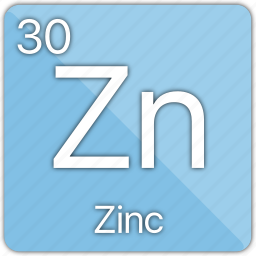 atom, atomic, element, metal, periodic, periodic table, zinc icon