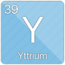 atom, atomic, element, metal, periodic table, yttrium icon