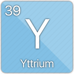 atom, atomic, element, metal, periodic table, yttrium icon