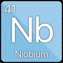 atom, atomic, element, metal, niobium, periodic table icon