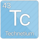 atom, atomic, element, metal, periodic table, technetium icon