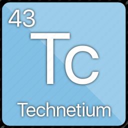 atom, atomic, element, metal, periodic table, technetium icon