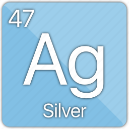 atom, coin, element, metal, periodic table, silver icon