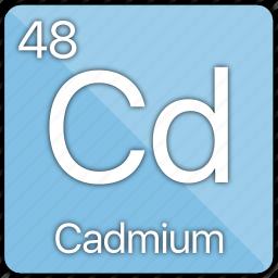 atom, atomic, cadmium, element, metal, periodic table icon