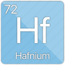 atom, atomic, element, hafnium, metal, periodic table icon