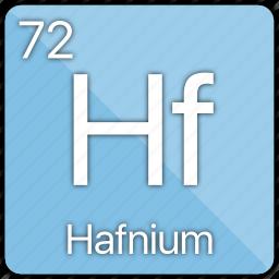 atom, atomic, element, hafnium, metal, periodic table icon
