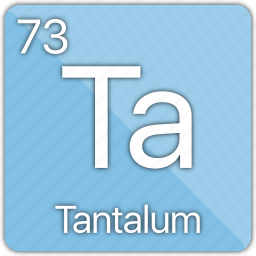 atom, atomic, element, metal, periodic table, tantalum icon