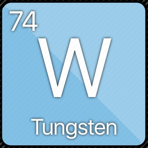 atom, element, filament, lightbulb, metal, periodic table, tungsten icon