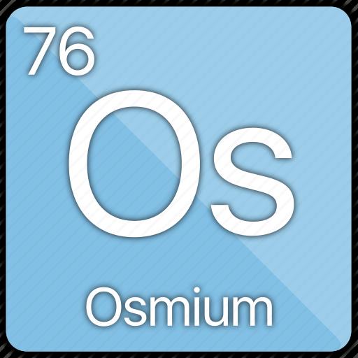 atom, atomic, element, metal, osmium, periodic table icon