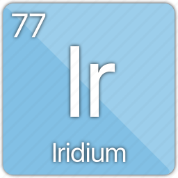 atom, atomic, element, iridium, metal, periodic table icon
