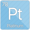 atom, atomic, element, metal, periodic table, platinum icon