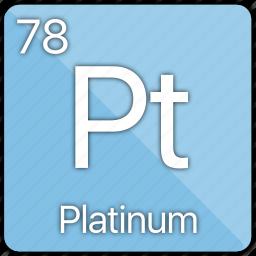 atom, atomic, element, metal, periodic table, platinum icon