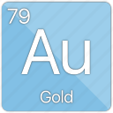 coin, currency, element, gold, medal, metal, periodic table icon