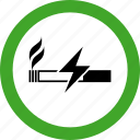 area, cigar, cigarette, electronic, electronics, permitted, smoking icon