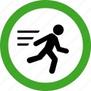 close, door, escape, exit, logout, permitted icon