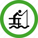 fish, fishing, permitted, sea, seafood icon