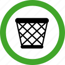 basket, garbage, permitted, recycle, trash icon