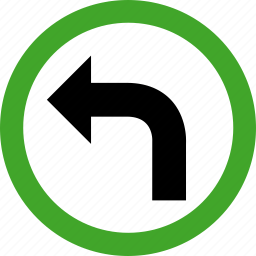 arrow, direction, left, permitted, turn icon