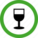 alcohol, beverage, cup, drink, glass, permitted, wine icon